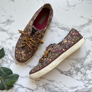 SPERRY Seacoast Liberty Print Floral Sneaker 8.5